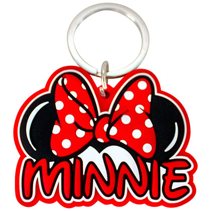 Minnie Mouse Ears Script Laser Cut Keychain