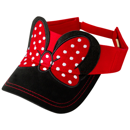 Minnie Mouse Ears and Bow Visor Hat