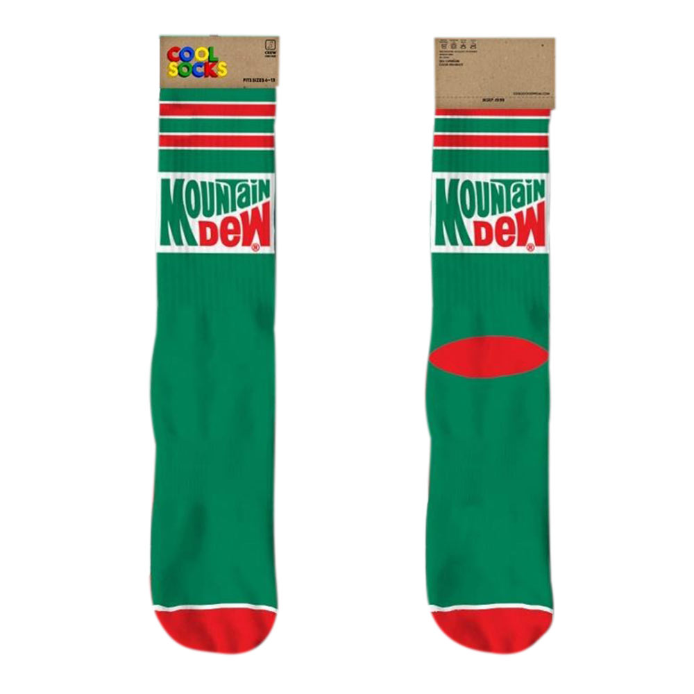 MOUNTAIN DEW Classic Logo Crew Socks