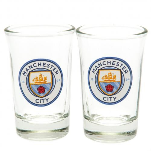 Manchester City F.C. 2pk Shot Glass Set