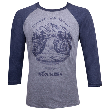 COORS Golden Colorado Scenery Raglan Shirt