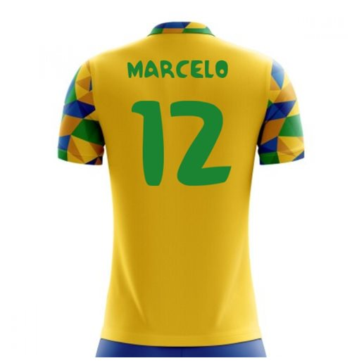 2018-2019 Brazil Home Concept Football Shirt (Marcelo 12) - Kids