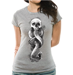 Harry Potter - Dark Art Snake Fitted - Women Fitted T-shirt Grey