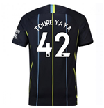 2018-2019 Man City Away Nike Football Shirt (Toure Yaya 42)