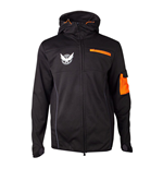 TOM CLANCY'S THE DIVISION M65 Operative Full Length Zipper Hoodie, Male, Small, Black/Orange