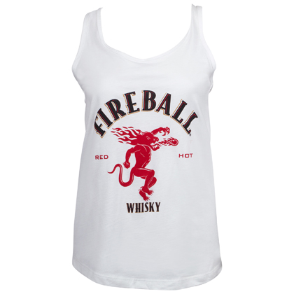 Fireball Dragon Logo Women's Racerback Tank Top