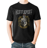 Harry Potter - Hufflepuff Varsity Crest - Unisex T-shirt Black