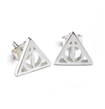 Harry Potter Deathly Hallow Stud Earrings (Sterling Silver)