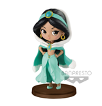 Disney Q Posket Petit Girls Festival Mini Figure Jasmine Winter Costume 7 cm