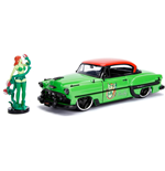 DC Bombshells Diecast Model Hollywood Rides 1/24 1953 Chevy Bel Air Hard Top with Poison Ivy Figure
