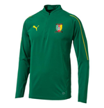 2d5cac7bfd3 2018-2019 Cameroon Puma 1/4 Zip Training Top (Green)