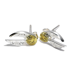 Harry Potter Golden Snitch Stud Earrings (Sterling Silver)