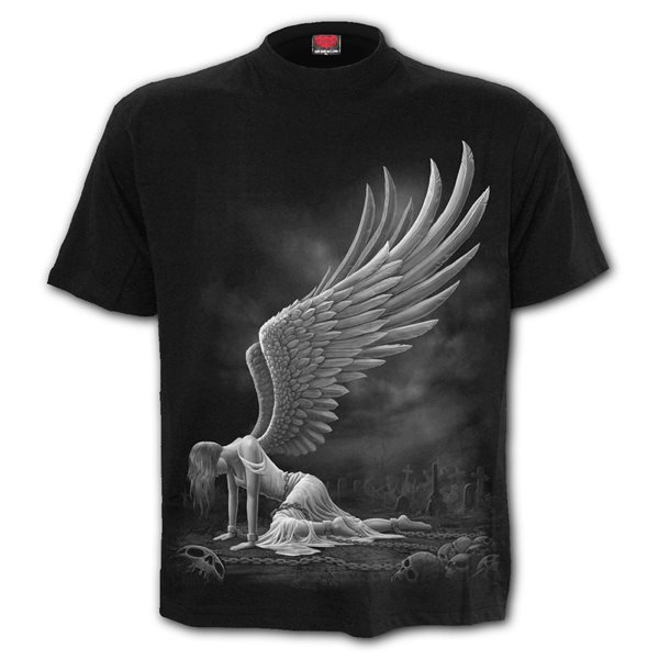 Angel - Front Print T-Shirt Black