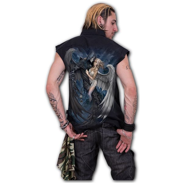 Fallen � - Sleeveless Stone Washed Worker Black (Plain)