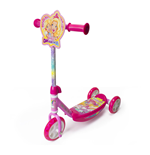 BARBIE Dreamtopia Kid's Three Wheel Tri Scooter with Adjustable Handlebar and Front Plate, Multi-colour