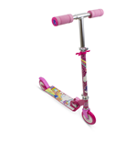 BARBIE Dreamtopia Kid's Two Wheel Inline Foldable Scooter with Adjustable Handlebar and Front Plate, Multi-colour
