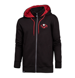 OVERWATCH Reaper Hero Full Length Zipper Hoodie, Male, Small, Black/Red