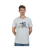 OVERWATCH Genji Pixel T-Shirt, Unisex, Large, White