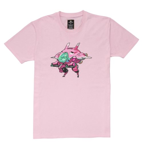 OVERWATCH D.Va Pixel T-Shirt, Unisex, Extra Large, Pink
