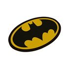 DC Comics Doormat Batman Logo Oval-Shaped 50 x 70 cm