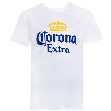 CORONA EXTRA Basic White Tee Shirt