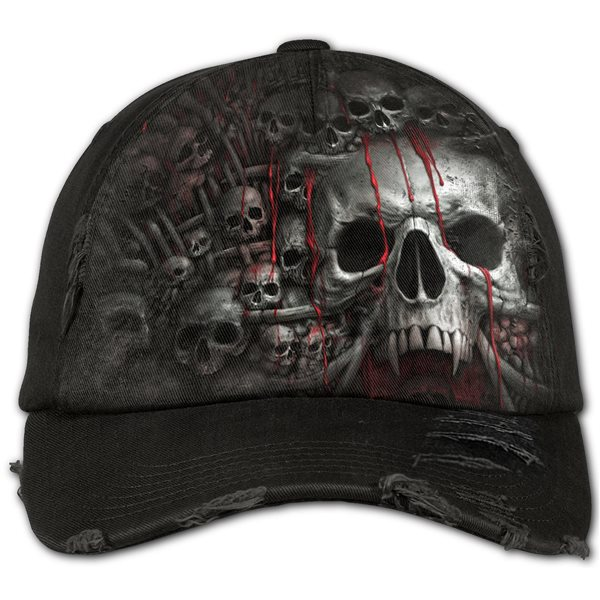 Death Ribs - Baseball Caps Ditressed with Metal Clasp