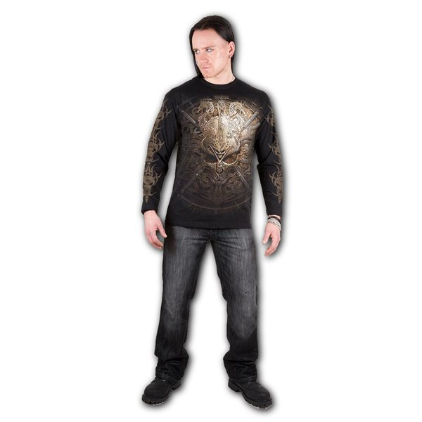 Viking Shield - Longsleeve T-Shirt Black