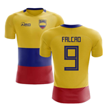 2018-2019 Colombia Flag Concept Football Shirt (Falcao 9) - Kids