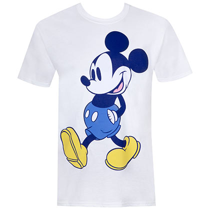 Mickey Mouse Blue Tone White T-Shirt