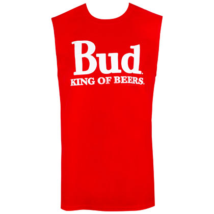 BUDWEISER Red Bud Kind Of Beers Sleeveless Tank Top