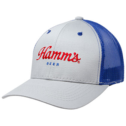 HAMM'S Mesh Grey Trucker Hat