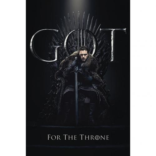 Game Of Thrones Poster Jon Snow Throne 285