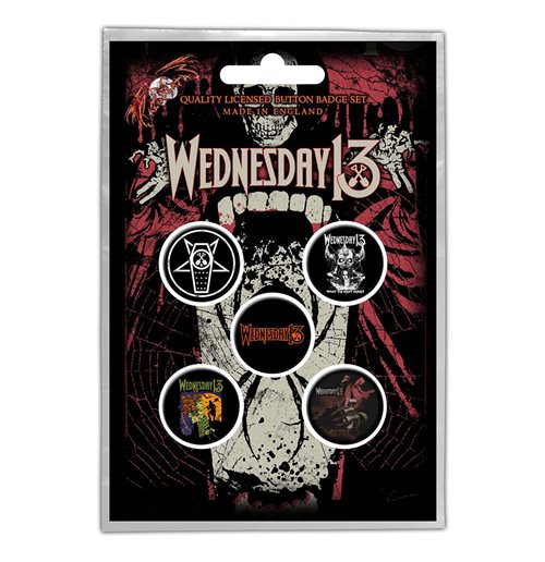 Wednesday 13 Button Badge Pack: Condolences (Retail Pack)