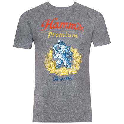 HAMM'S Lion Logo Grey Tee Shirt