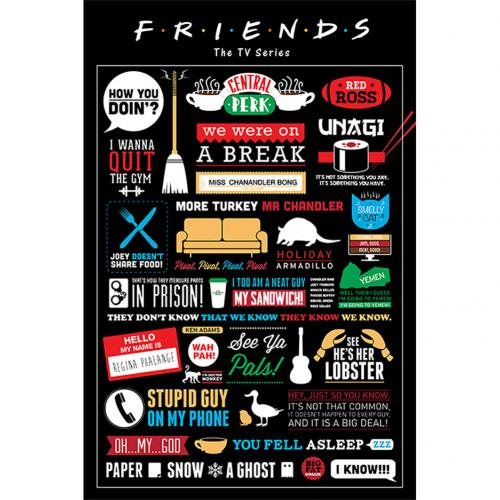 Friends Poster Inforgraphic 150