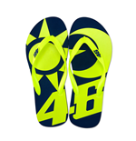 Valentino Rossi - VR 46 Flip Flops (Yellow-Blue)