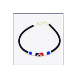Sampdoria Enameled Steel and Rubber Bracelet