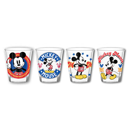 Mickey Mouse 4 Pack Shot Glasses