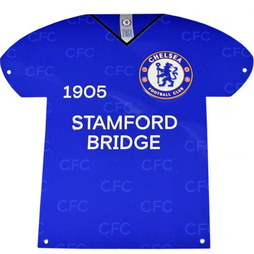 Chelsea F.C. Metal Shirt Sign