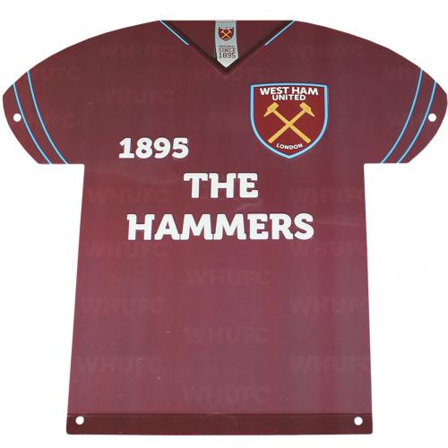 West Ham United F.C. Metal Shirt Sign