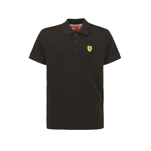Ferrari Black Polo Shirt Logo