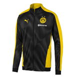 2019-2020 Borussia Dortmund Puma Stadium Jacket (Black-Yellow)