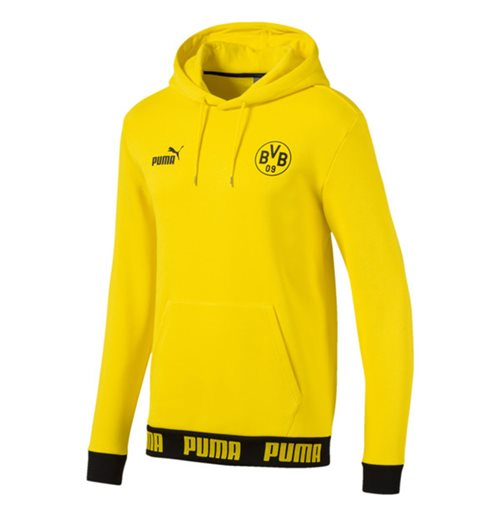 2019-2020 Borussia Dortmund Puma Football Culture Hoodie (Yellow)