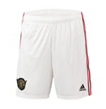 2019-2020 Man Utd Adidas Home Shorts (White)