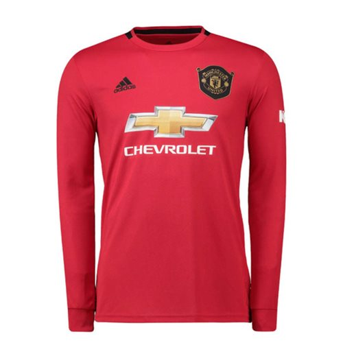 2019-2020 Man Utd Adidas Home Long Sleeve Shirt