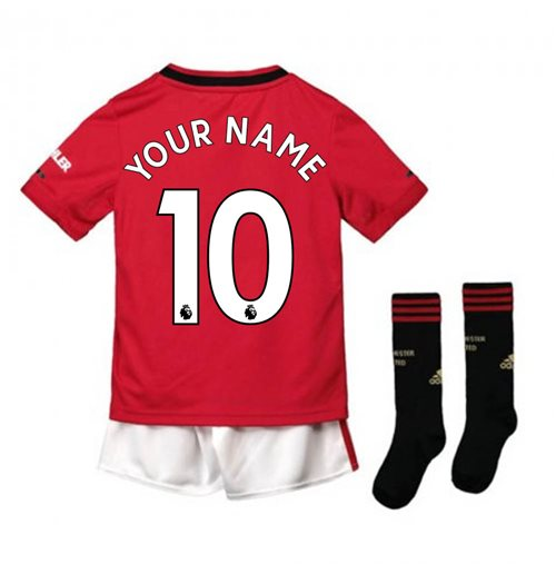 info for a5679 57c86 2019-2020 Man Utd Adidas Home Little Boys Mini Kit (Your Name)