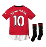2019-2020 Man Utd Adidas Home Little Boys Mini Kit (Your Name)