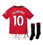2019-2020 Man Utd Adidas Home Little Boys Mini Kit (RASHFORD 10)