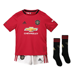 2019-2020 Man Utd Adidas Home Little Boys Mini Kit