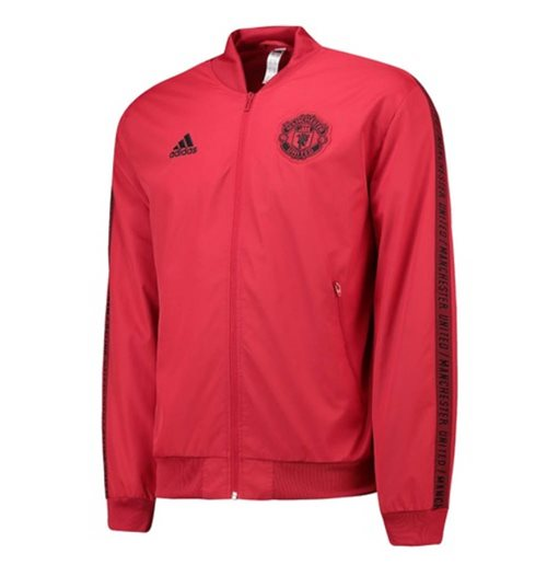 2019-2020 Man Utd Adidas Anthem Jacket (Red) - Kids
